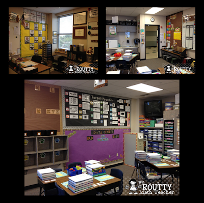 This safari-themed fourth grade classroom shows how I organize my classroom and manage my math manipulatives, composition notebooks, and spirals. It also shows my numbered-animal desk cards and table signs.
