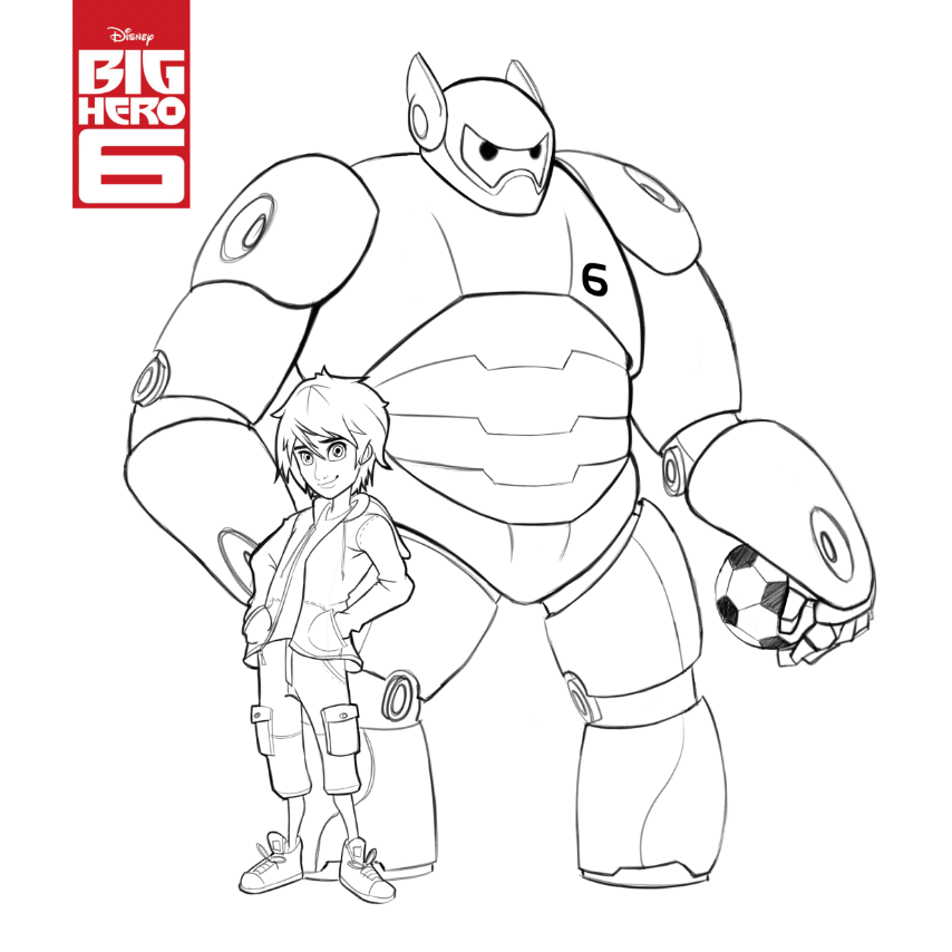 Coloring Pages Big Hero 6 Coloring Pages Free And Printable