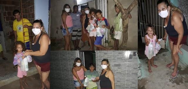 Ação solidária da AMIL em prol das crianças carentes do Loteamento Santana foi um sucesso