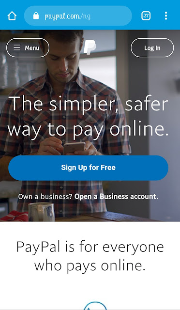 Open a PayPal account in Nigeria