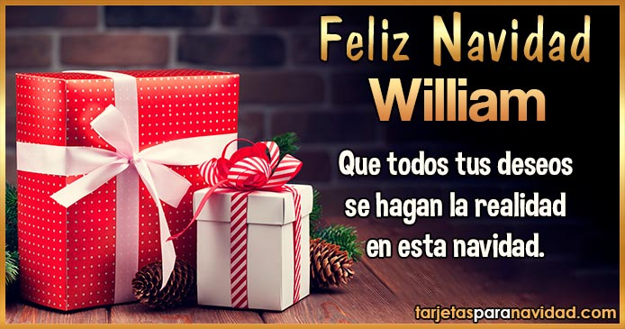 Feliz Navidad William
