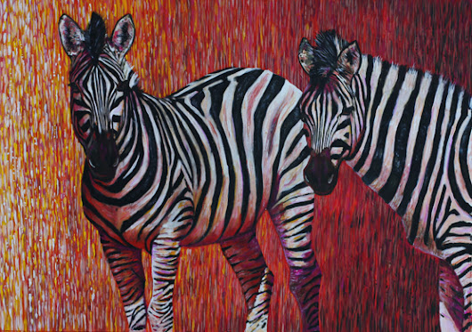 Some more paintings of zebras.