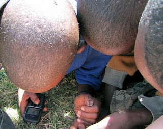 Kids playing with my cell phone in Ethiopia