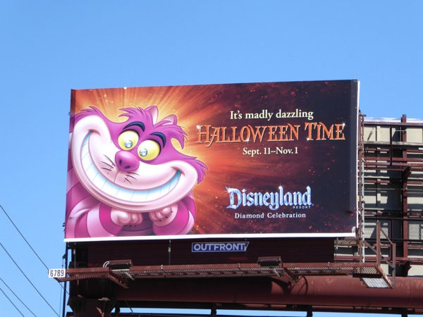 Cheshire Cat Disneyland Halloween billboard
