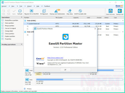 Screenshot EaseUS Partition Master Pro 12.8 Full Version
