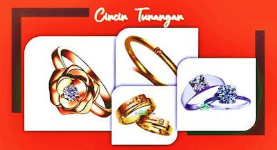 cincin tunangan emas perak palladium berlian