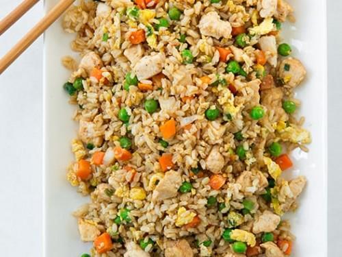 Chicken Fried Rice #dinner #rice #food #healthyrecipe #chicken