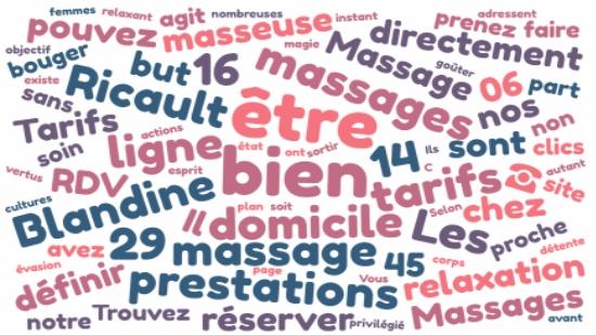 Massage à domicile à Côte Bleue, RDV et tarifs;