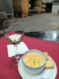 Legends Estates Terroir Semillon with Creamy Canadian Lobster Bisque