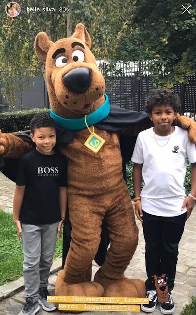 Scooby-Doo visita casa de Belle Silva em comemoração ao Halloween