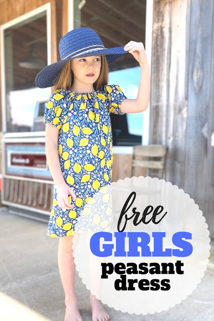 Sew up this easy and free girls a-line peasant dress pattern with this step by step tutorial.
