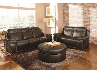 cool brown leather loungers