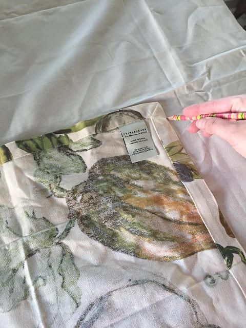 making pillows using napkins
