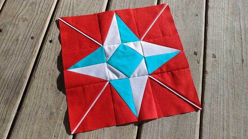 Slice of Pi Quilts: I Wish You a Merry QAL - Block 11 : north star quilt block - Adamdwight.com