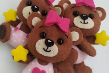 3 Moldes de ursinhos de feltro para imprimir: Artesanato Criativo