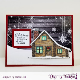 Stamp/Die Duos: Home For Christmas Custom Dies: Squares, Double Stitched Squares, Pierced Rectangles, Curvy Slopes Paper Collection: Rustic Christmas