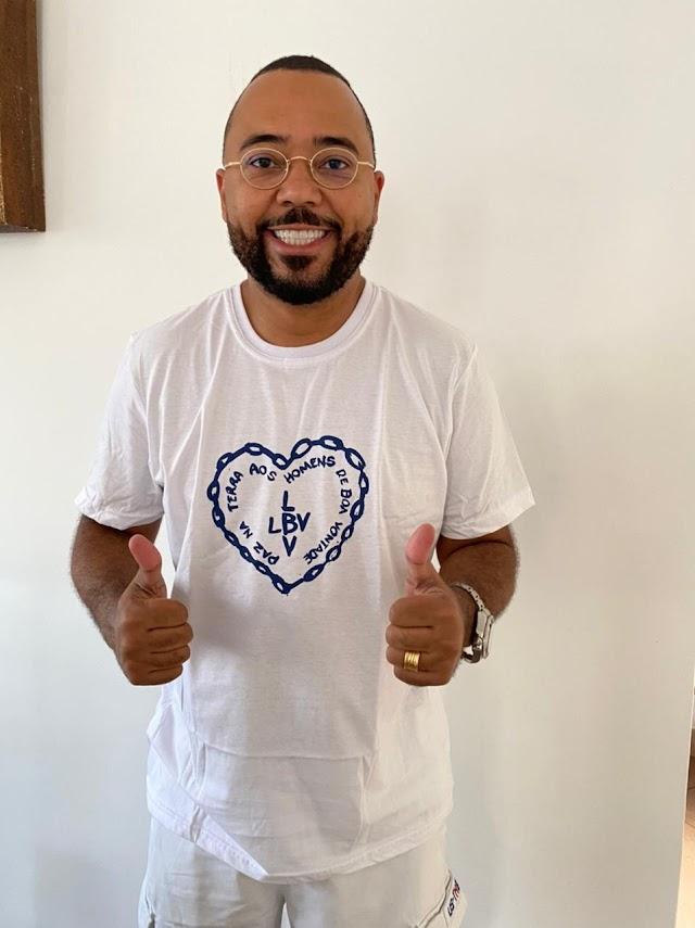 Cantor Dudu Nobre participa de campanha beneficente contra a fome