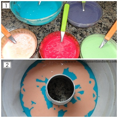 receita de bolo arco iris rainbow cake