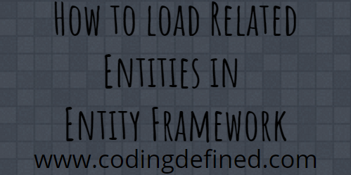 entity framework load relationship