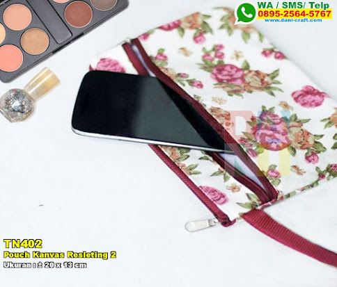 Pouch Kanvas Resleting 2