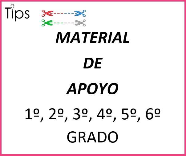 TIPS (material de apoyo) 1° A 6°  PRIMARIA