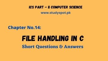 file handling in c short questions and answers, ics part 2