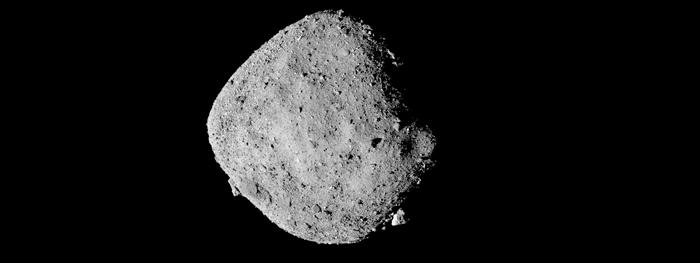 asteroide bennu está soltando partes no espaço