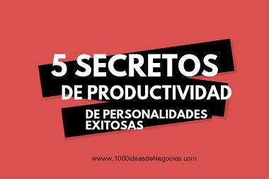 Secretos de productividad