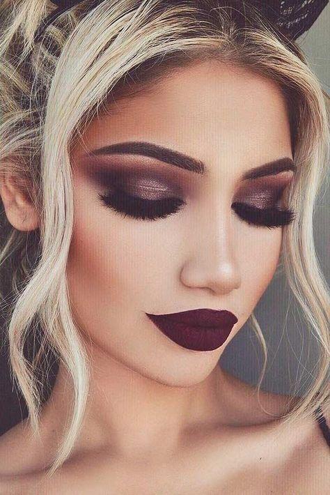 maquillaje elegante de noche