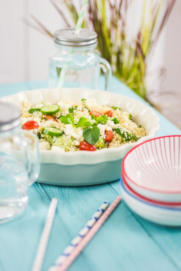 Leckerer Couscous Salat mit Minze