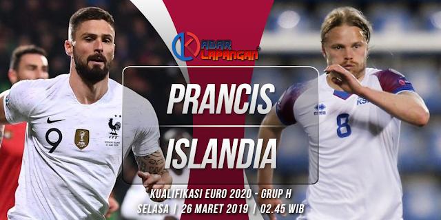 Prediksi Bola Prancis vs Islandia Kualifikasi Euro 2020