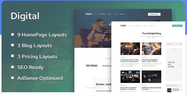 Digital Theme WordPress Premium