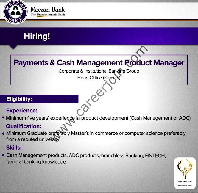 Latest Jobs in Meezan Bank April 2021 -Apply online