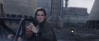 Vanessa Kirby and Jason Statham in Hobbs & Shaw