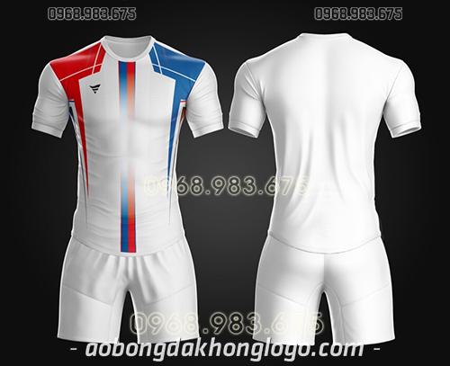 Áo bóng đá ko logo TA Thd màu trắng