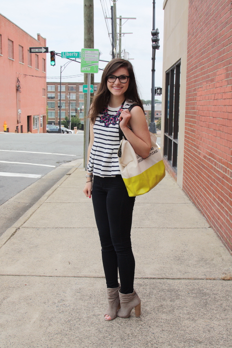 2017, summer, stripes, neon, Kate Spade, Anthropologie, J.Crew, OOTD,