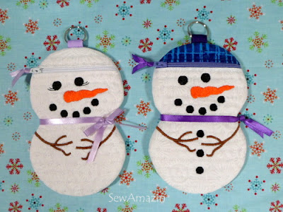 Purple Snow Couple Zipper Cases