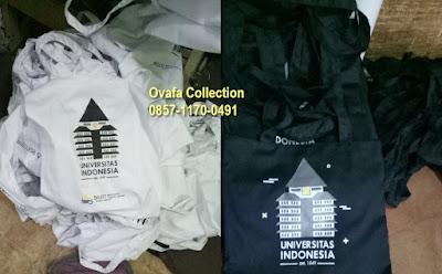 Konveksi pembuatan goodie bag (tote bag) kain drill murah di Bintaro Tangerang Selatan