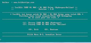Cara Install Twrp Mi Max & Mi Max Prime (Hydrogen / Helium)