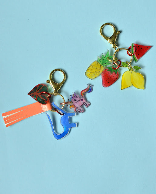 how to make shrink plastic keychain