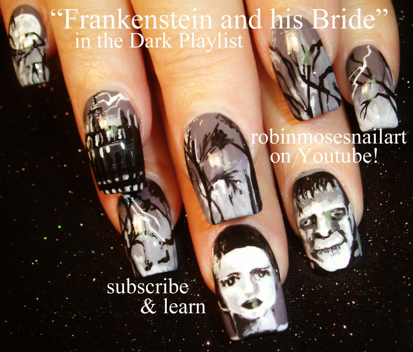 "Robin Moses Nail Art: ""Scary movie nails"" ""horror film ..."