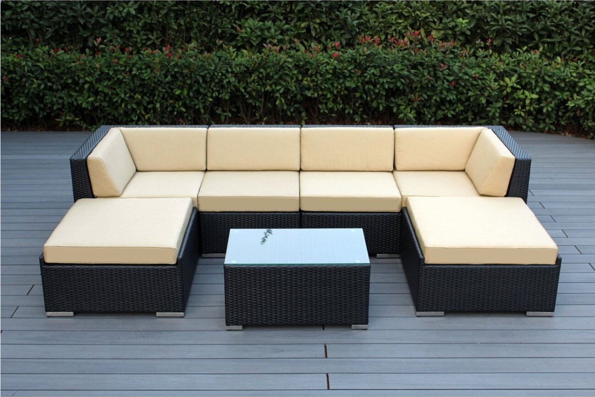 cover for garden sofa set best leather nyc ohana 7 piece outdoor wicker patio with free