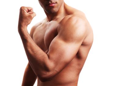 Marcando el biceps