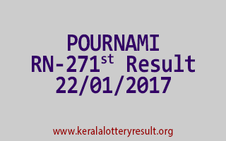 POURNAMI RN 271 Lottery Results 22-01-2017