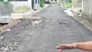 Pembangunan Jalan Hotmik Dinas PUPR kabupaten Lampung Utara di Kelapa 7 Diduga asal-asalan