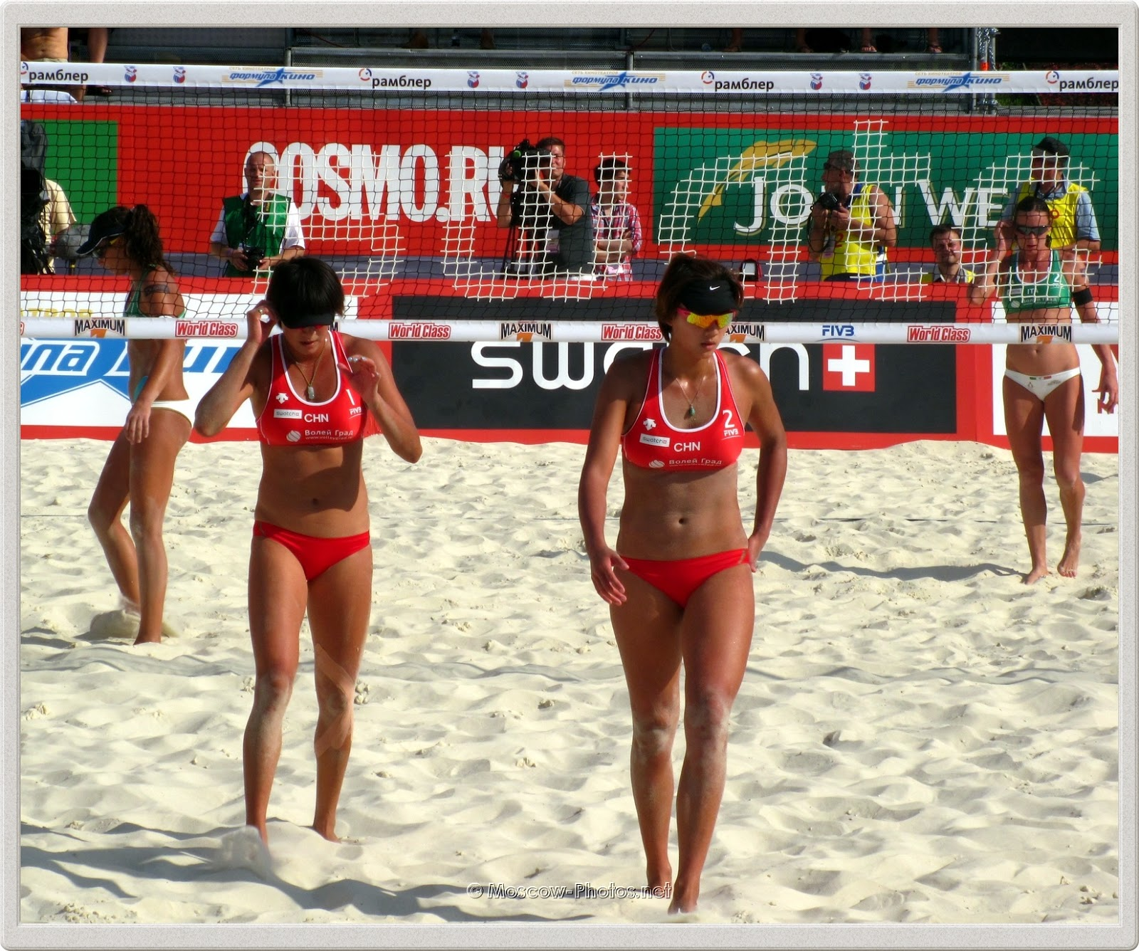 Chinese women's beach volley team