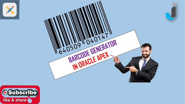 barcode generator in oracle apex