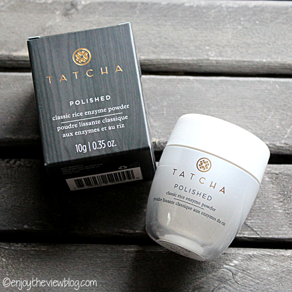 jar of TATCHA Polished Classic Rice Enzyme Powder and the box it came in