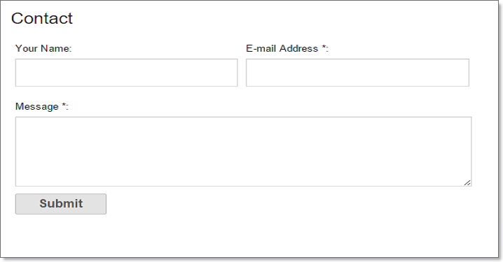 2 stylish contact form for blogger