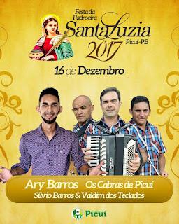 Vereador Fernando Cross convida a população para as festividades de Santa Luzia, padroeira do distrito de Santa Luzia